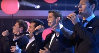 The fantastic four ---Il Divo --- sing I Will Always Love You