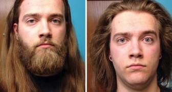 16 uomini prima e dopo il taglio della barba che a stento sembrano la stessa persona