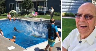 Deze 94-Jarige man legt een zwembad aan na het overlijden van zijn vrouw om zich niet alleen te voelen