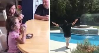 As suas quatro filhas revelam qual será o sexo do próximo bebê: a reação do pai é muito engraçada!