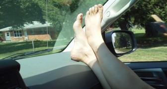 Ecco perché non dovete mai mettere i piedi in questo modo quando siete in macchina