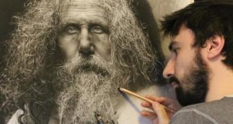Centinaia di ore per realizzare un quadro: le sue opere iperrealiste sono mozzafiato