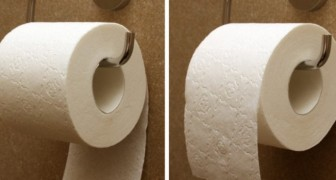 How do you put your toilet paper roll in its holder?