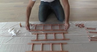 Verwendet Kupferrohre um Regale zu gestalten: die Art wie ihr es macht, wird euch jeder nachmachen