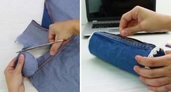 Come creare un astuccio riciclando dei vecchi jeans