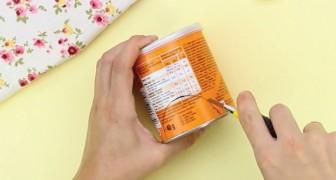 Creare un dispenser per dischetti struccanti usando il barattolo delle Pringles