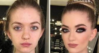 16 voor en na foto's die de kracht van make-up tonen
