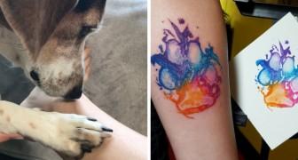 Ces personnes ont rendu spécial le tatouage de la patte de leur chien: voici quelques idées