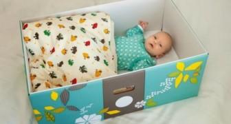 La coutume finlandaise de faire dormir les bébés dans des boîtes en carton pour éviter la mort subite du nourrisson