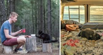 Questo ragazzo ha mollato tutto per viaggiare col suo gatto in un caravan: le foto fanno sognare