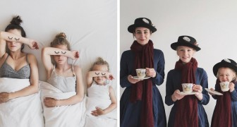 Questa mamma veste se stessa e le figlie allo stesso modo: la loro simpatia conquista il web