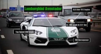 Dubai Police with supercars !