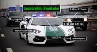 Les bolides de la police de Dubaï