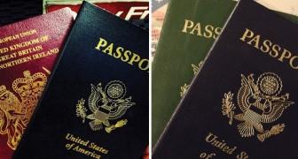 Sai perché i passaporti vengono emessi in soli 4 colori?