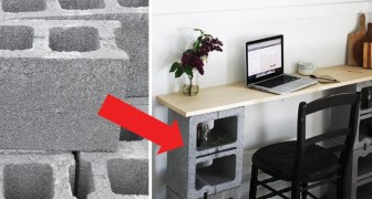 14 idee di arredamento realizzate con i comuni blocchi di cemento: vi sorprenderanno!