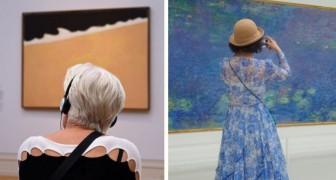 Va nei musei in cerca di visitatori abbinati ai quadri: le sue ore di attesa vengono ripagate