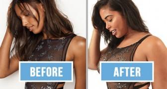 Ein üppiges Model stellt Fotos von Victoria's Secret nach... die Bilder sprechen für sich