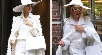 Outfits van beroemdheden worden nagemaakt met wat 'Ie thuis heeft liggen en dat heeft hilarische resultaten
