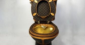 Sie baut eine Louis Vuitton Toilette und stellt sie zum Verkauf: Der Preis ist einfach irrwitzig