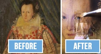 Il enlève la couche de peinture jaunie d'un tableau vieux de 399 ans: la différence des couleurs est incroyable