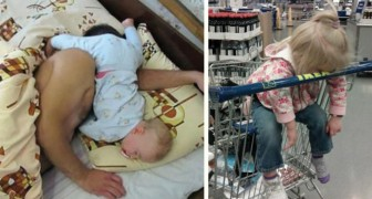 20 children who suddenly fell asleep in the most incredible positions