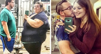 Ze verliezen samen 180 kg en maken dezelfde foto na 1 jaar: je gelooft bijna niet dat het hetzelfde stel is