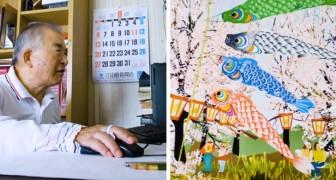 Questo anziano giapponese dipinge quadri bellissimi usando Excel