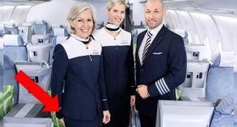 Waarom verwelkomt het cabinepersoneel de passagiers met de handen achter de rug?
