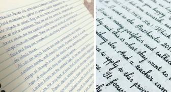 Als je denkt dat het onmogelijk is dat deze pagina's met de hand zijn geschreven, zou je ze wat dichterbij moeten bekijken