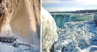 Die Kälte Nordamerikas verwandelt die Niagarafälle in ein Spektakel aus Eis