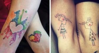 30 prachtige tatoeages voor moeder en dochter die deze onverbrekelijke band vieren