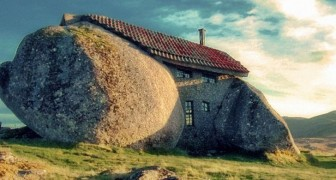 This rock house is very famous, but few have seen how it looks inside