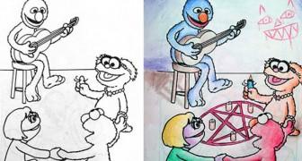 16 volte in cui gli adulti hanno colorato gli album dei loro figli con risultati esilaranti