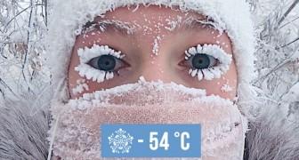 In diesem sibirischen Dorf haben die Temperaturen die -54 Grad erreicht: Die Bilder sprechen für sich