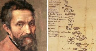 Que mangeait Michel-Ange? Il nous le révèle lui-même avec une liste de course dressée en 1518