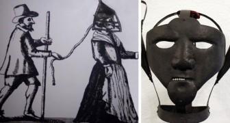 Die Schandmaske, ein Folterinstrument mit dem man um 1600 die Klatschbasen bestrafte