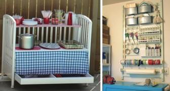 15 brillante Ideen, um einen neuen Nutzen für das Babybett zu finden