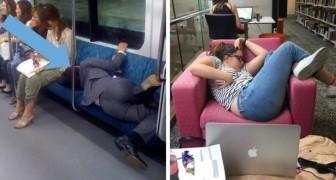 23 Menschen die in den unmöglichsten Situationen beim Schlafen erwischt wurden