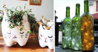Fantásticas ideias para reciclar garrafas de vidro e de plástico