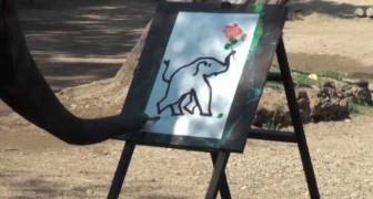 L'Elefante che dipinge