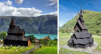 Schitterende Middeleeuwse houten kerken die je alleen nog in Noorwegen ziet