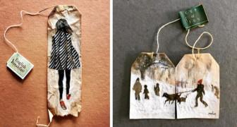 Quadri vintage sulle bustine del tè: queste opere vi conquisteranno con la loro delicatezza