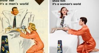 Un photographe inverse les rôles des vieilles publicités sexistes: regardez le résultat