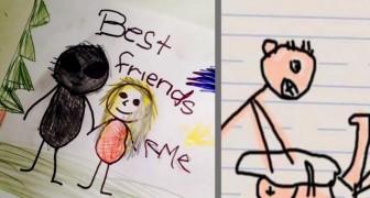 15 tekeningen gemaakt door kinderen op school waar ouders bang van werden