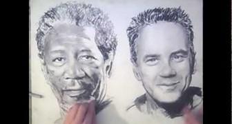 Disegna con entrambe le mani