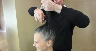 Tired of regrowth, this woman decides to rely on a professional to change her total look