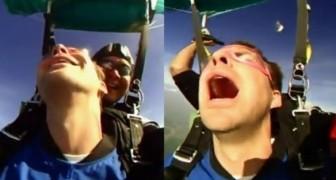 Primo lancio con paracadute