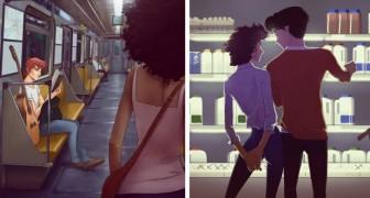 Deze tekenaar maakt tekeningen die iedereen die verliefd is geweest zal begrijpen
