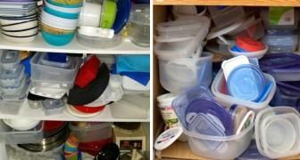 Voici quelques astuces ingénieuses pour enfin réussir à ranger l'espace où vous gardez les boites en plastique