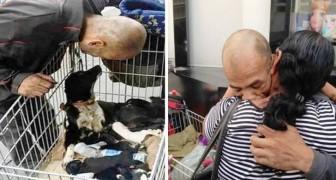 Ein Mann verkaufte das Wenige das er hatte, um seinen Hund zu retten: Im Gegenzug fand er seine Familie wieder